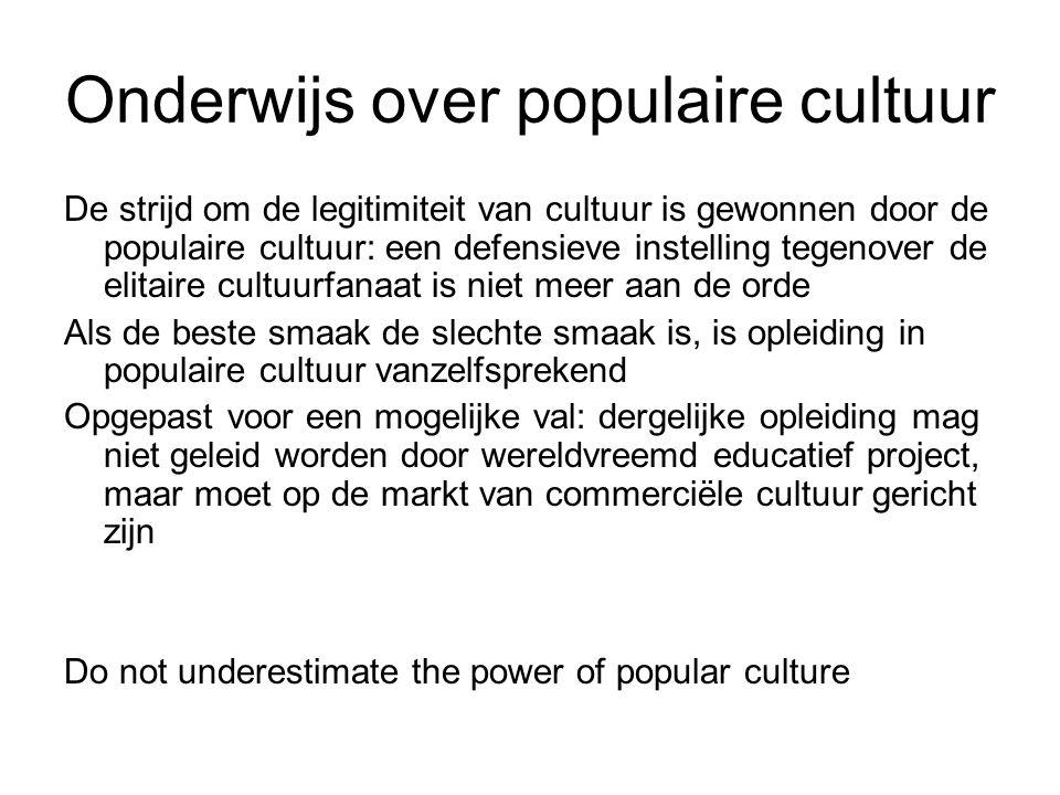 Onderwijs over populaire cultuur