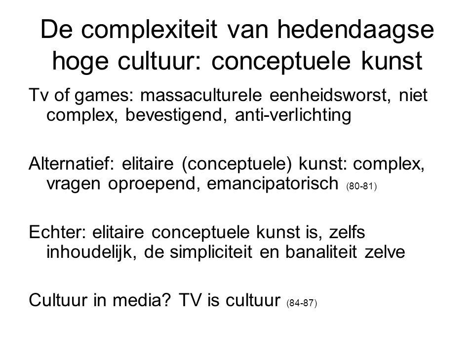 De complexiteit van hedendaagse hoge cultuur: conceptuele kunst