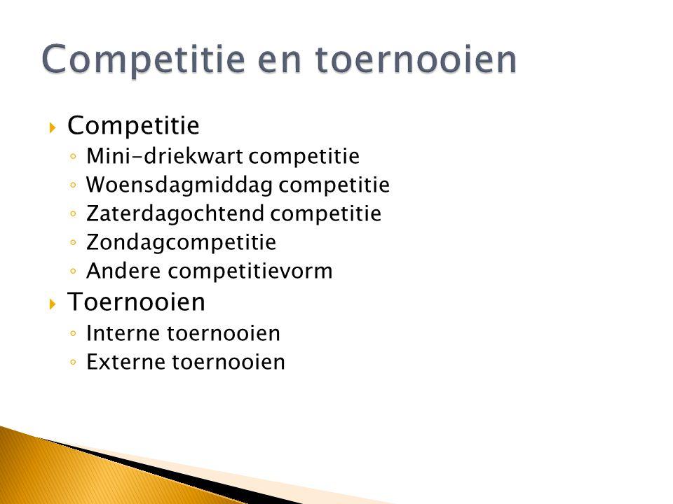 Competitie en toernooien