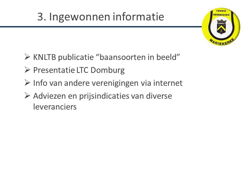 3. Ingewonnen informatie