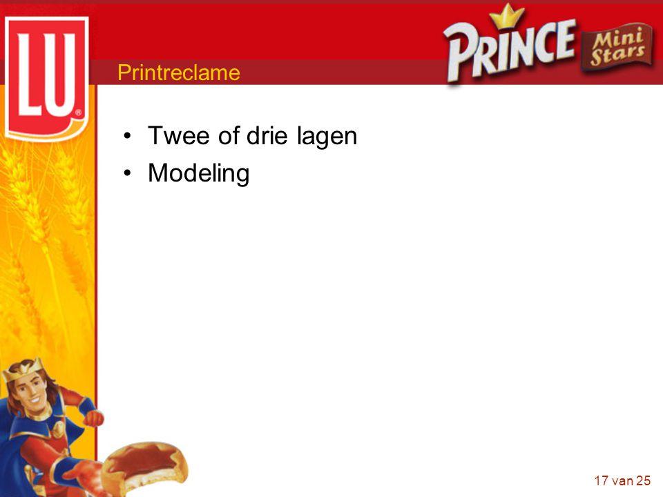 Printreclame Twee of drie lagen Modeling