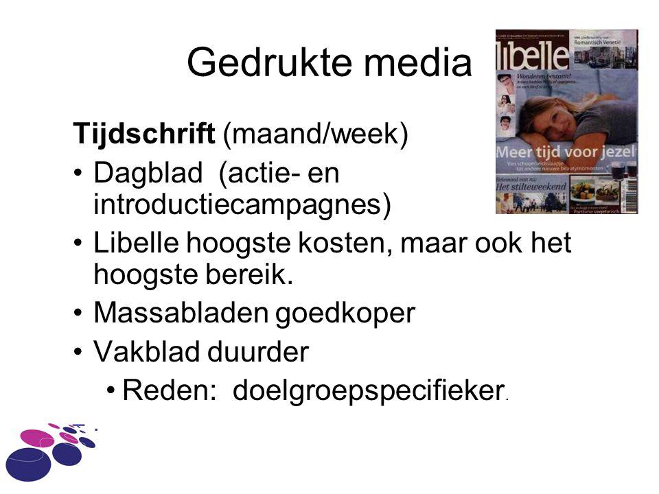 Gedrukte media Tijdschrift (maand/week)