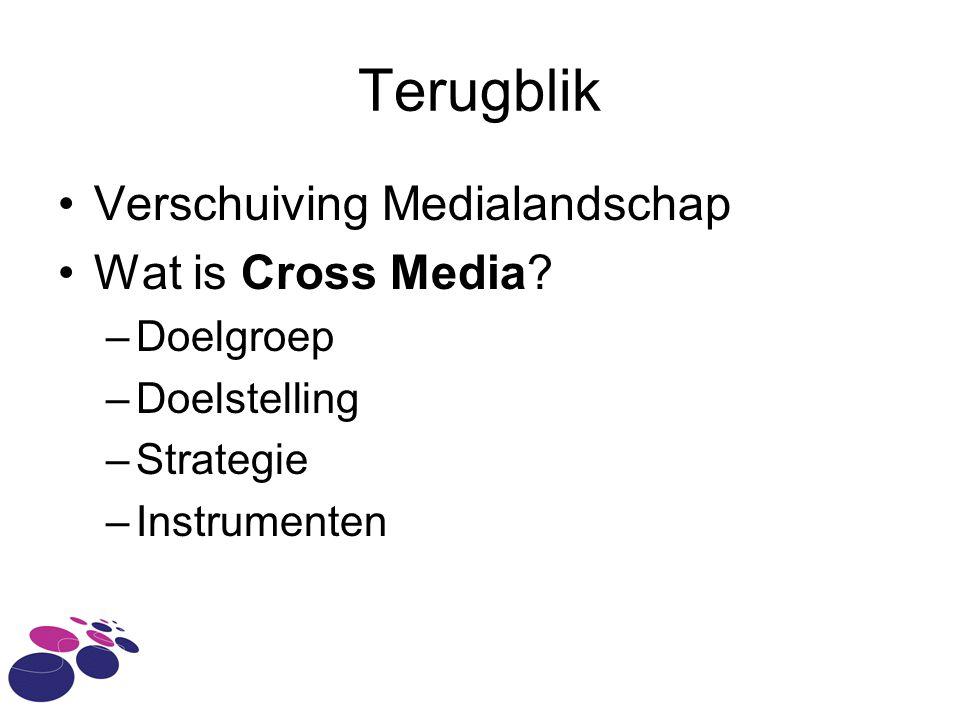 Terugblik Verschuiving Medialandschap Wat is Cross Media Doelgroep