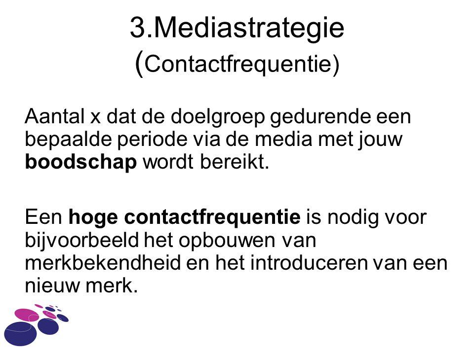 3.Mediastrategie (Contactfrequentie)