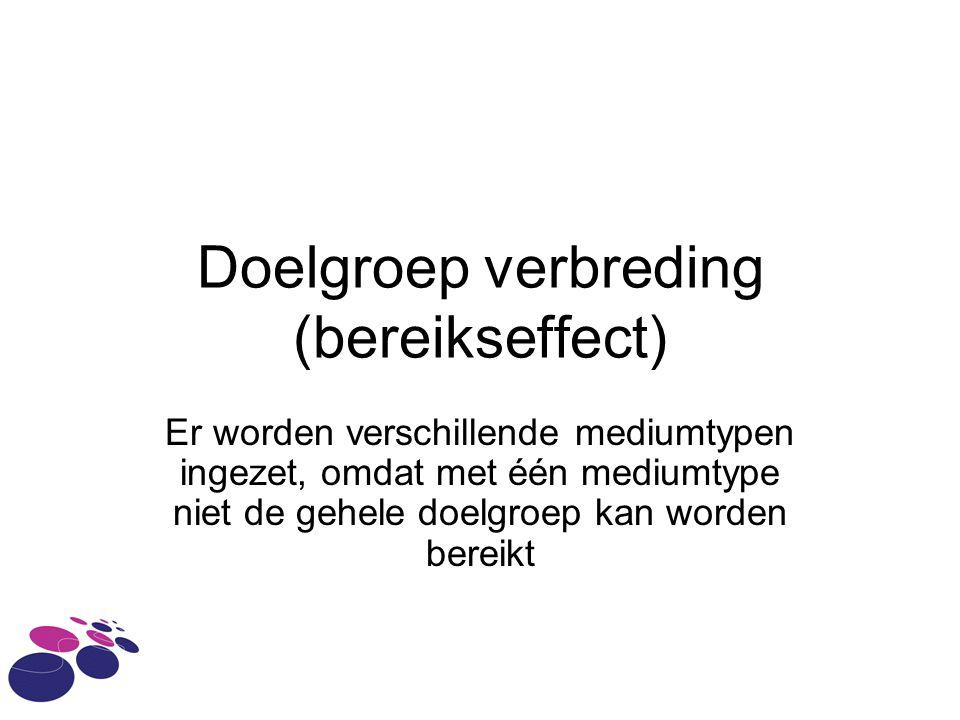 Doelgroep verbreding (bereikseffect)
