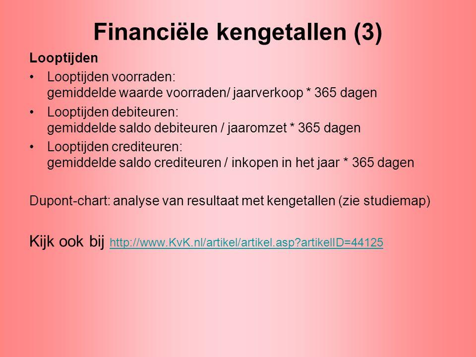 Financiële kengetallen (3)