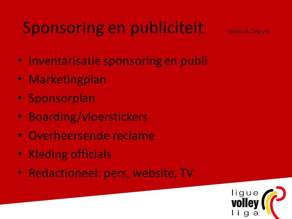 Sponsoring en publiciteit Diederiek Degryse