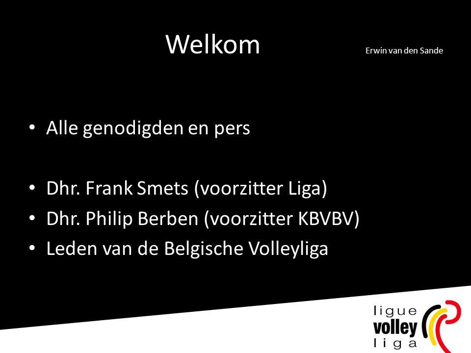 Welkom Erwin van den Sande
