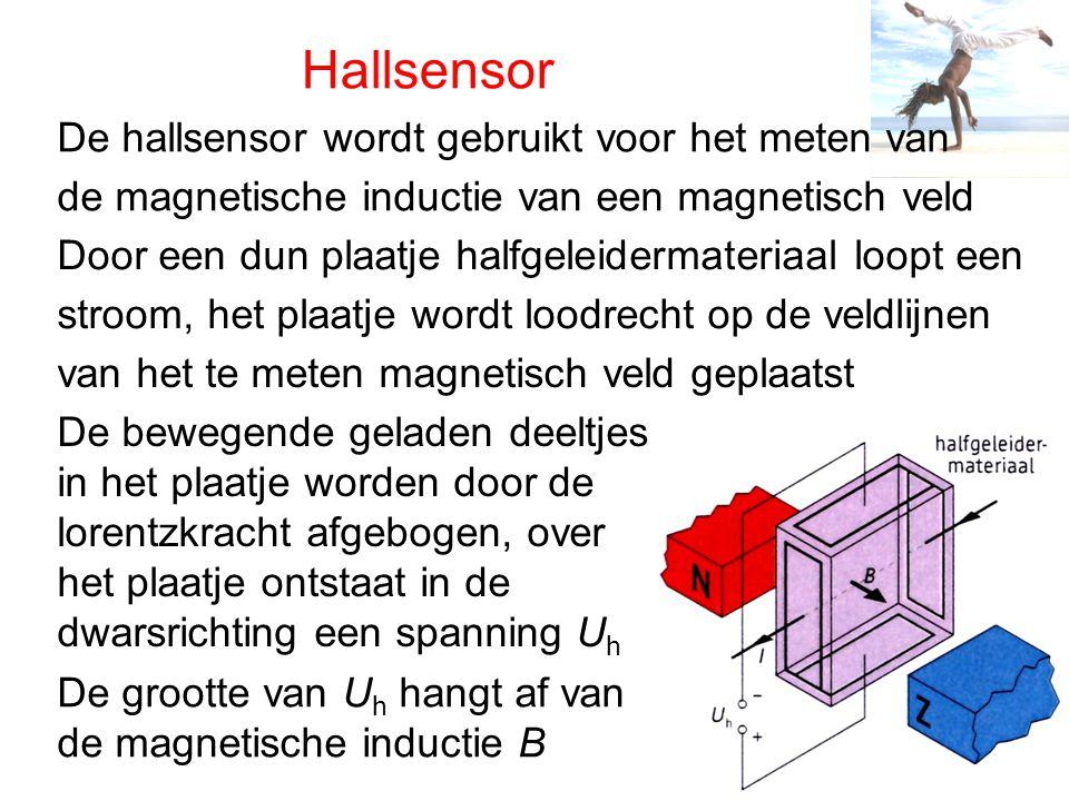 Hallsensor De hallsensor wordt gebruikt voor het meten van