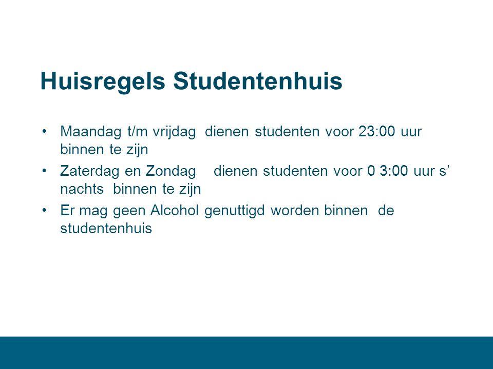 Huisregels Studentenhuis