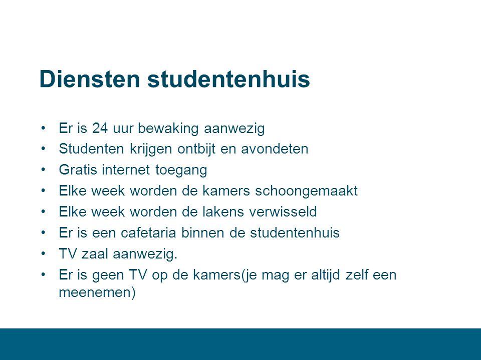 Diensten studentenhuis