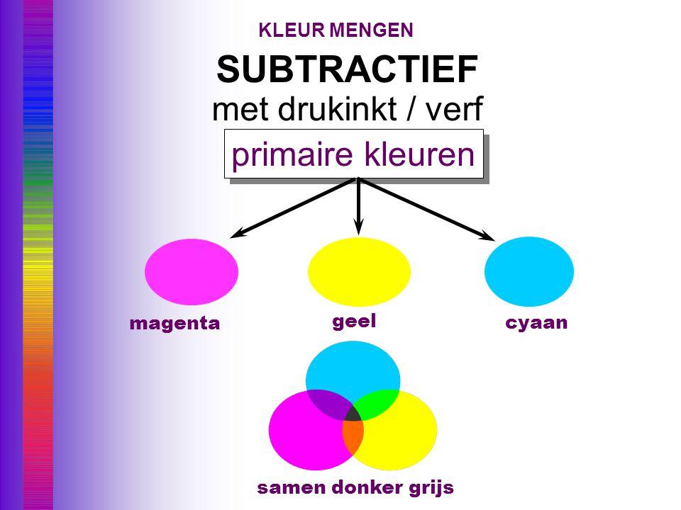 SUBTRACTIEF met drukinkt / verf