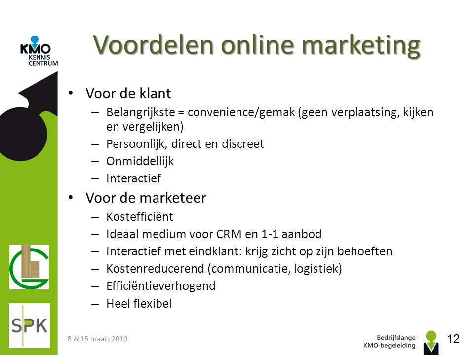 Voordelen online marketing