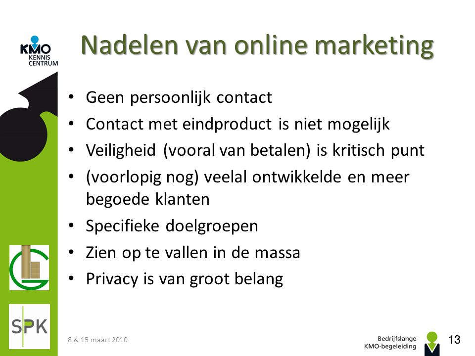 Nadelen van online marketing