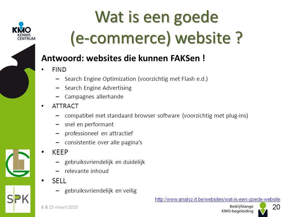 Wat is een goede (e-commerce) website