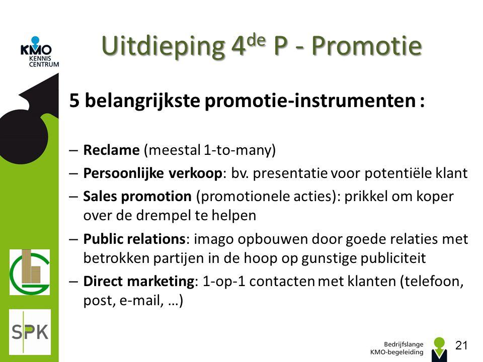 Uitdieping 4de P - Promotie