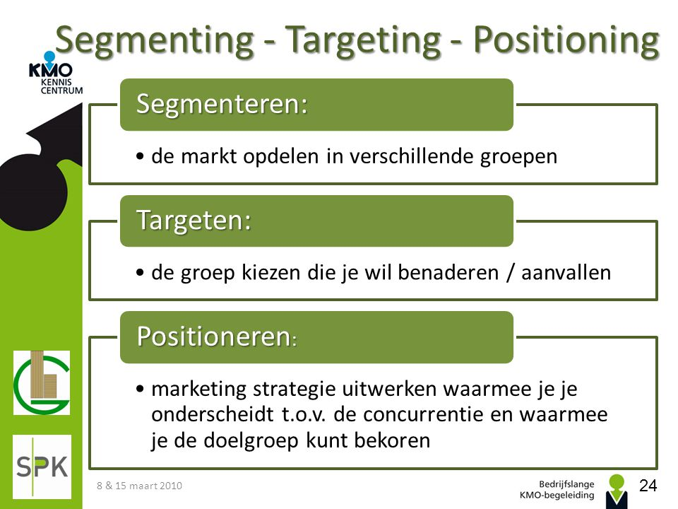 Segmenting - Targeting - Positioning