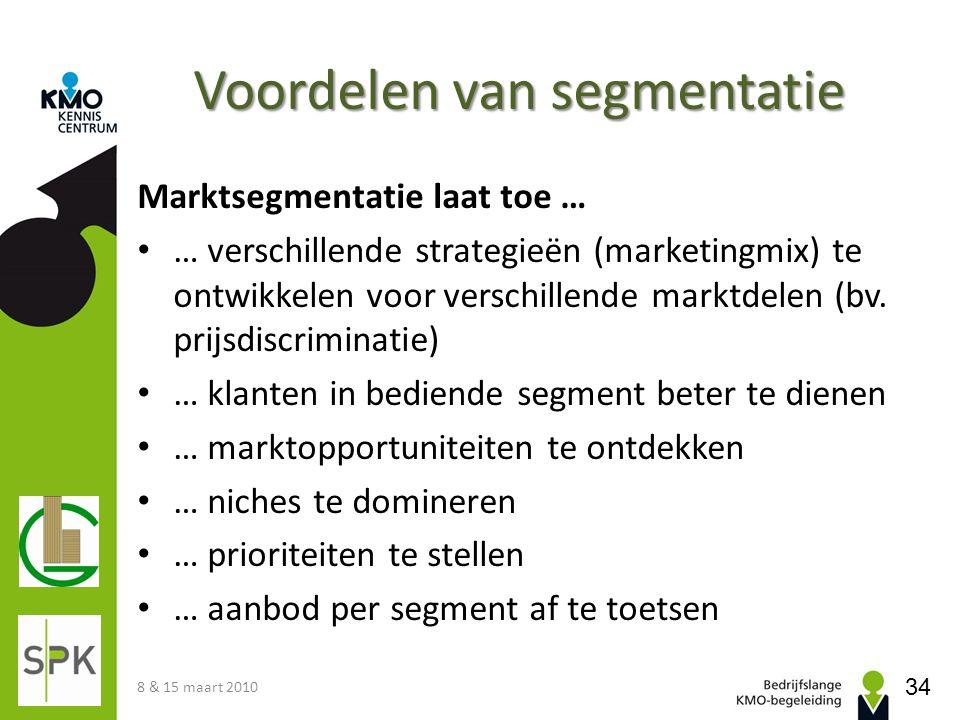 Voordelen van segmentatie