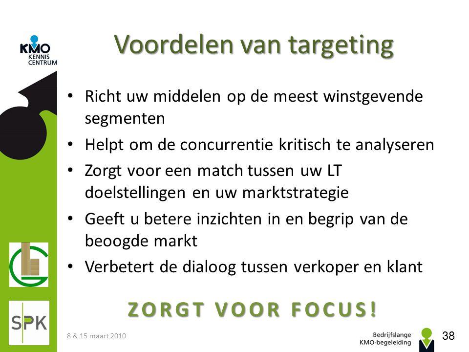Voordelen van targeting