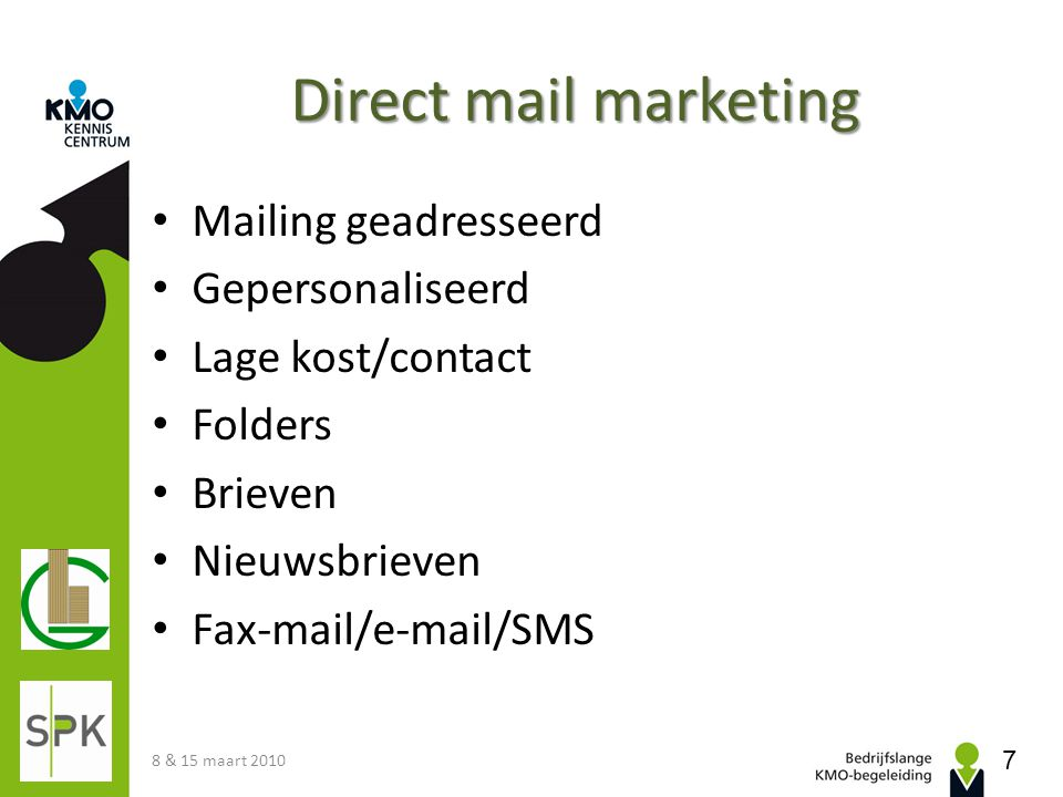 Direct mail marketing Mailing geadresseerd Gepersonaliseerd
