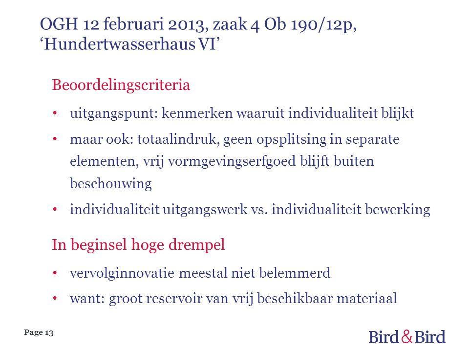 OGH 12 februari 2013, zaak 4 Ob 190/12p, 'Hundertwasserhaus VI'