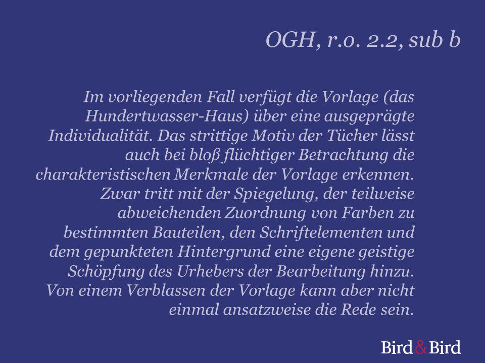 OGH, r.o. 2.2, sub b