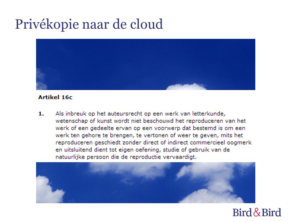 Privékopie naar de cloud