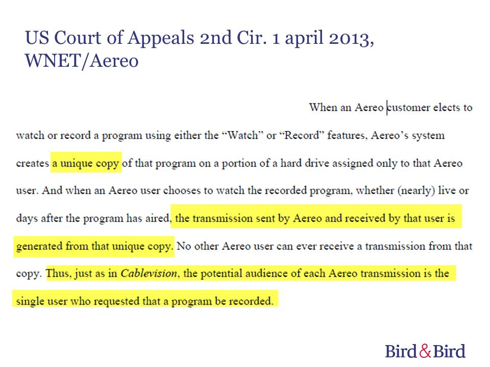 US Court of Appeals 2nd Cir. 1 april 2013, WNET/Aereo