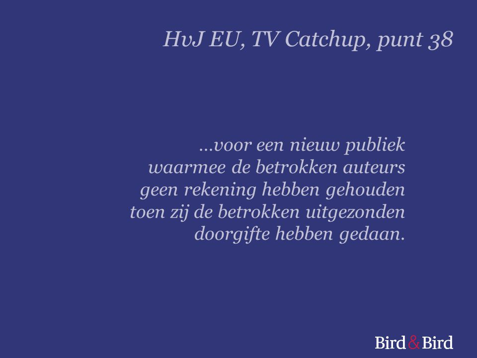 HvJ EU, TV Catchup, punt 38