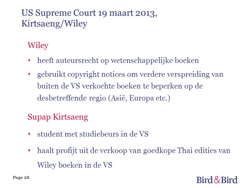 US Supreme Court 19 maart 2013, Kirtsaeng/Wiley