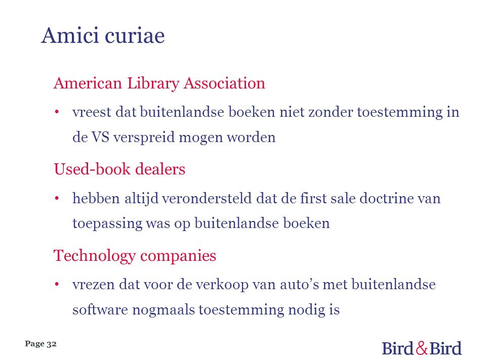 Amici curiae American Library Association Used-book dealers