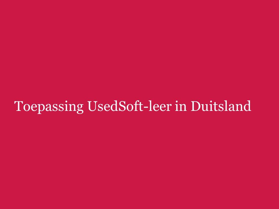 Toepassing UsedSoft-leer in Duitsland