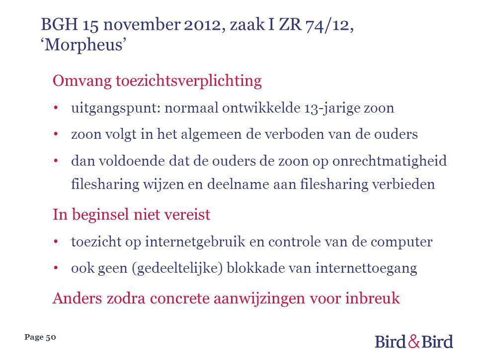 BGH 15 november 2012, zaak I ZR 74/12, 'Morpheus'