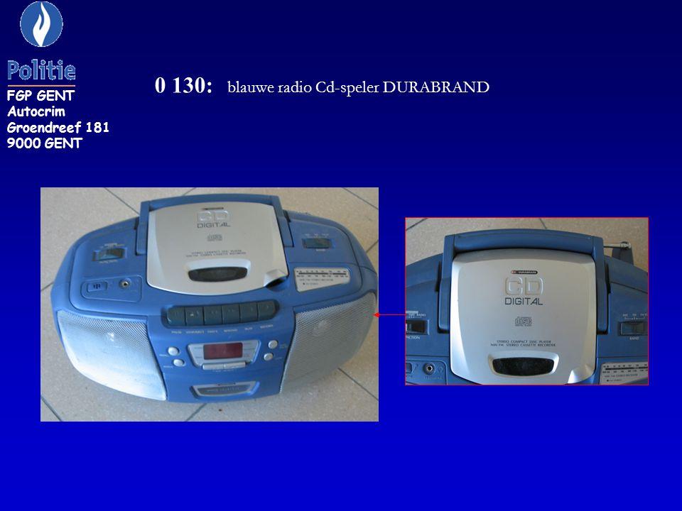 0 130: blauwe radio Cd-speler DURABRAND