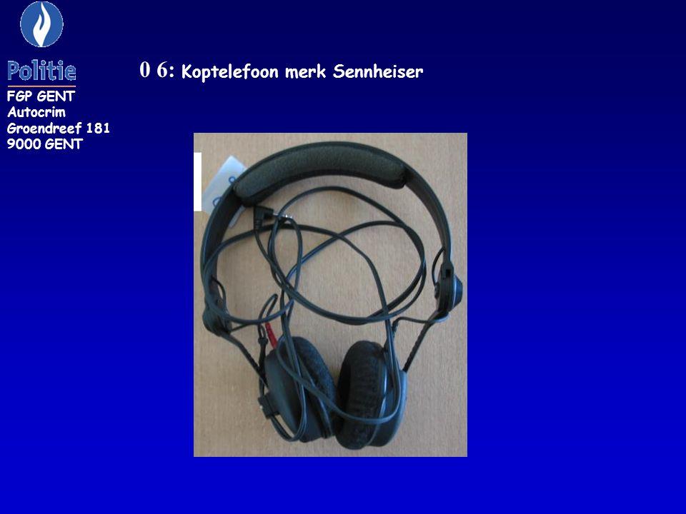0 6: Koptelefoon merk Sennheiser