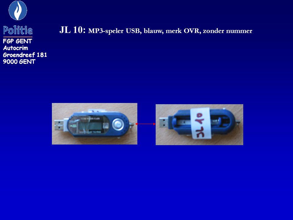 JL 10: MP3-speler USB, blauw, merk OVR, zonder nummer