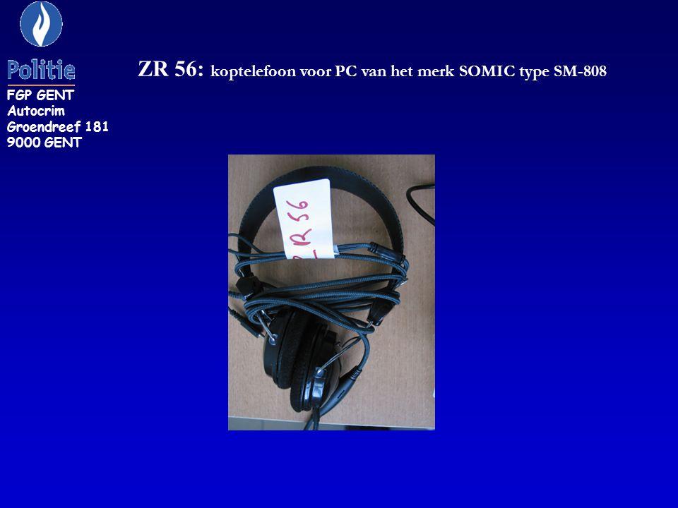 ZR 56: koptelefoon voor PC van het merk SOMIC type SM-808