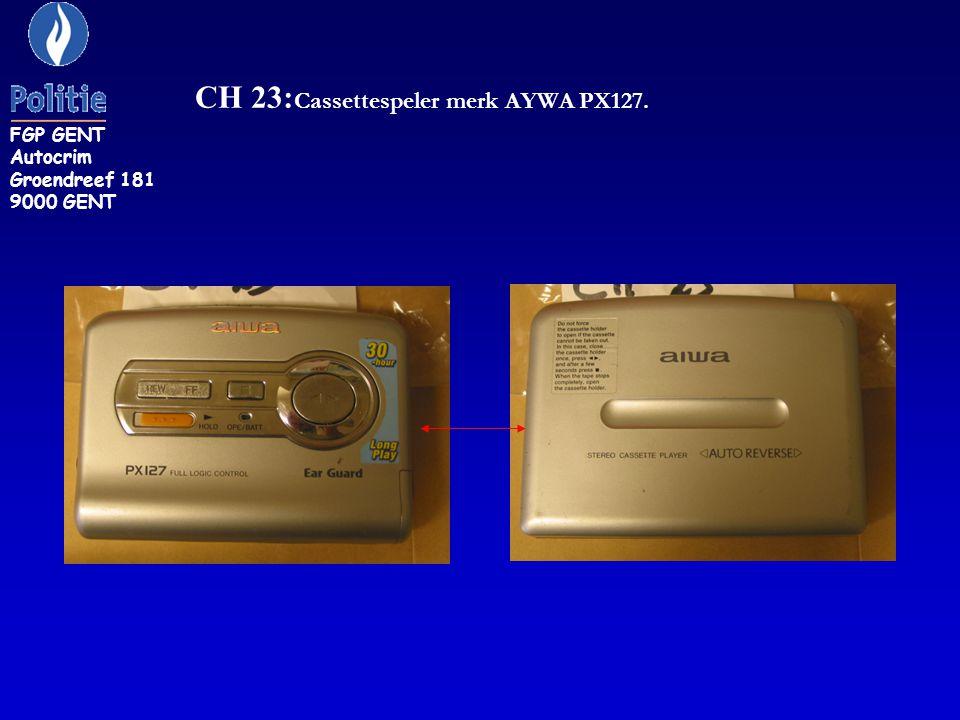CH 23:Cassettespeler merk AYWA PX127.