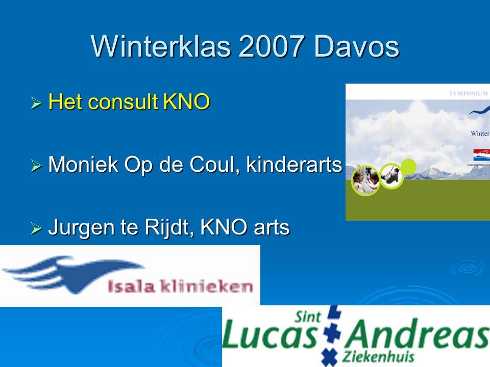 Winterklas 2007 Davos Het consult KNO Moniek Op de Coul, kinderarts
