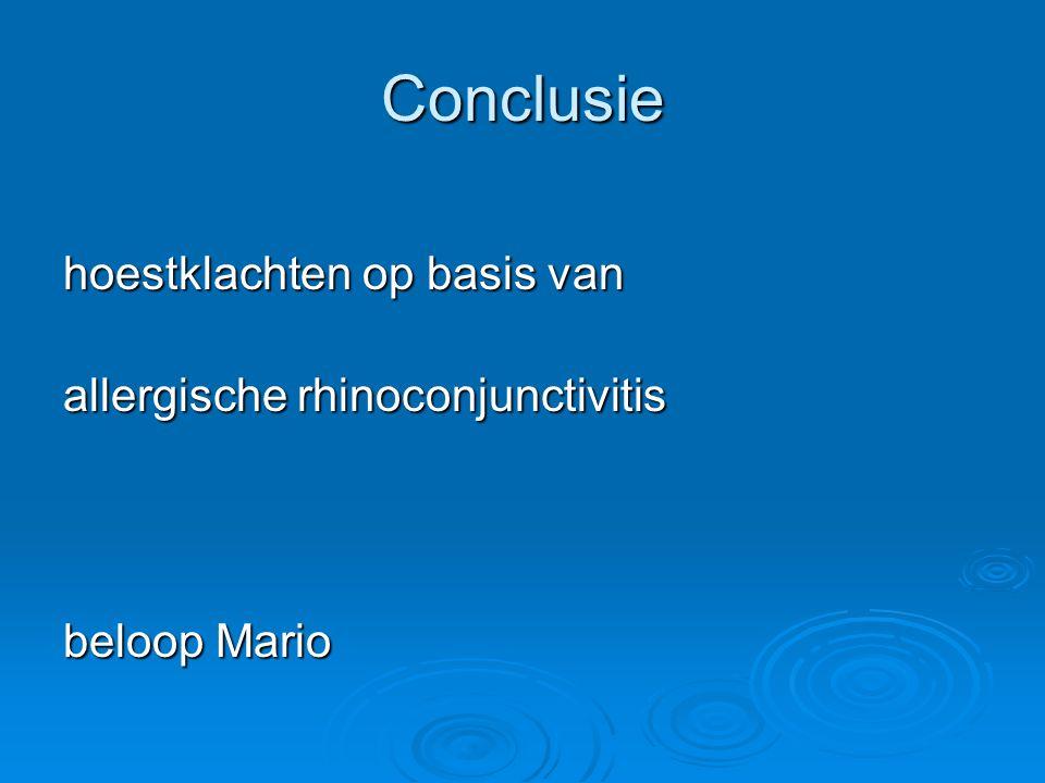 Conclusie hoestklachten op basis van allergische rhinoconjunctivitis