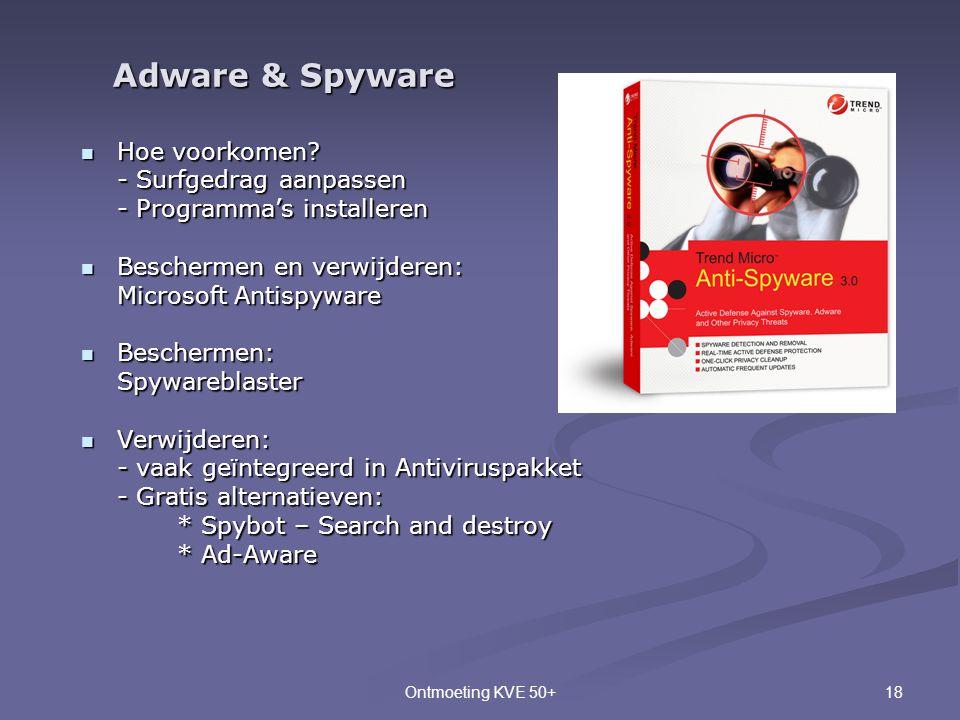 Adware & Spyware Hoe voorkomen - Surfgedrag aanpassen