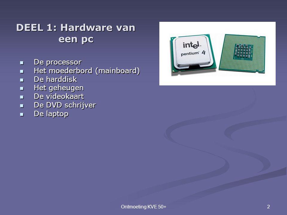 DEEL 1: Hardware van een pc