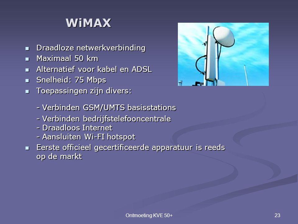 WiMAX Draadloze netwerkverbinding Maximaal 50 km