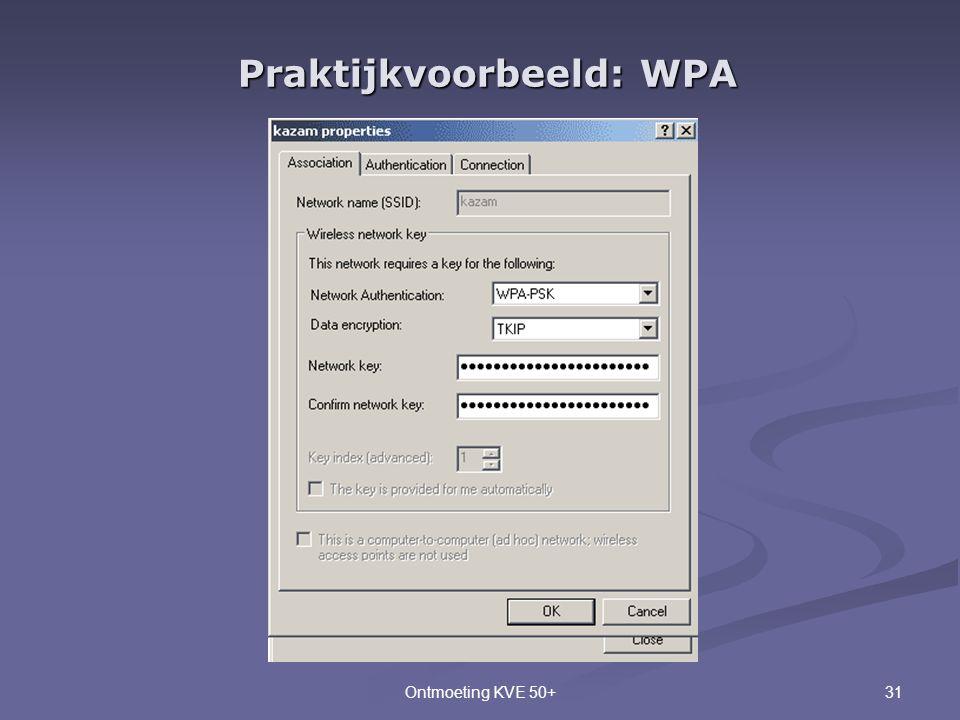 Praktijkvoorbeeld: WPA