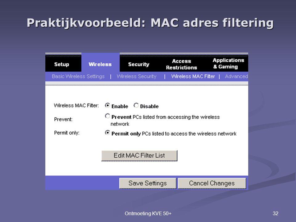 Praktijkvoorbeeld: MAC adres filtering