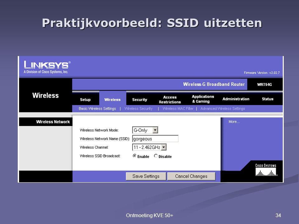 Praktijkvoorbeeld: SSID uitzetten