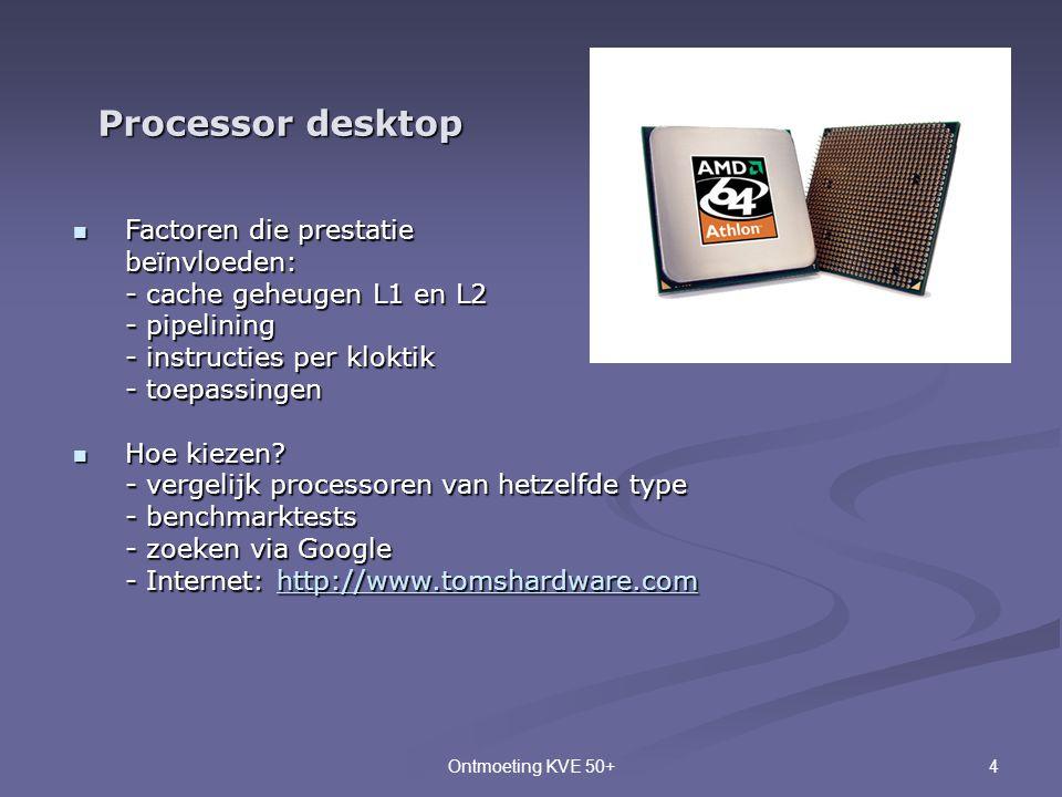 Processor desktop Factoren die prestatie beïnvloeden: