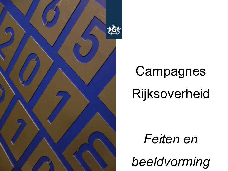 Campagnes Rijksoverheid Feiten en beeldvorming