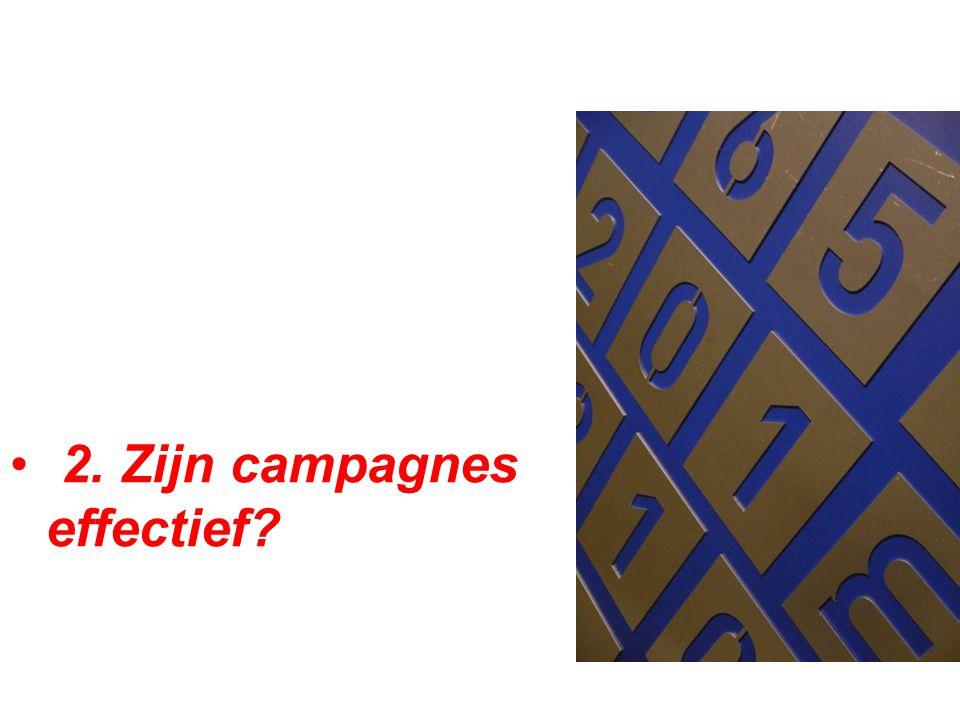 2. Zijn campagnes effectief