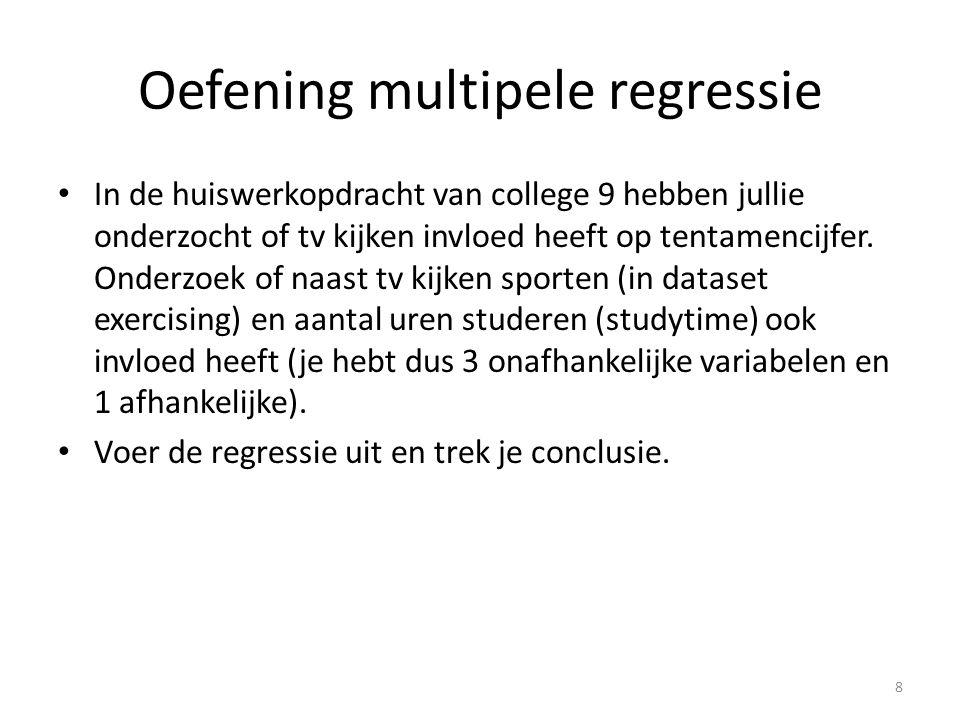 Oefening multipele regressie